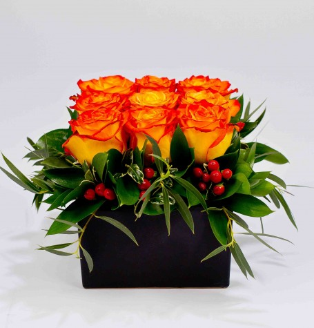 Compact Rose Arrangement