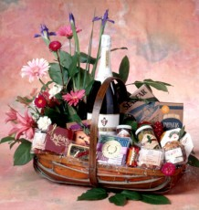 Gift Basket Flowers 1