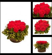 Round Compact Rose Arrangement