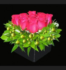 Red Compact Rose Arrangement